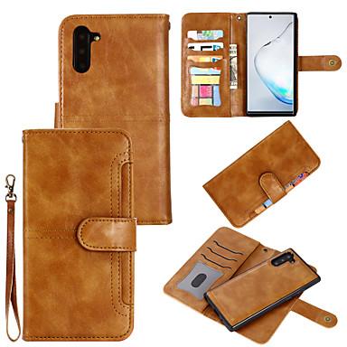 billige Samsung-tilbehør-Etui Til Samsung Galaxy S9 / S9 Plus / S8 Plus Kortholder / Støtsikker Heldekkende etui Ensfarget PU Leather