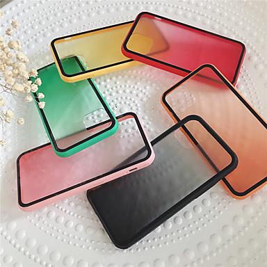 Недорогие Кейсы для iPhone 6 Plus-чехол для карты сцены яблока iphone 11 11 pro 11 pro max x xs xr xs max 8 классический полупрозрачный цветной градиентное стекло задняя панель тпу рамка 2-в-1 чехол для мобильного телефона