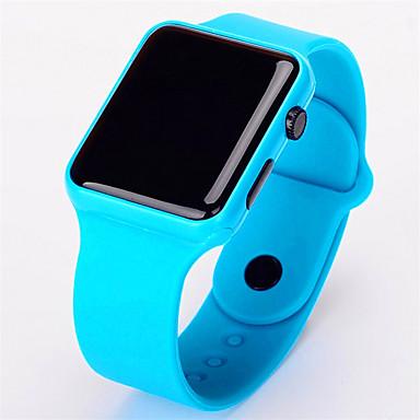 رخيصةأون ساعات الرجال-رجالي ساعة رقمية رقمي مطاط الأبيض / أحمر / الوردي لا الكرونوغراف تصميم جديد ضوء LED رقمي قادم جديد موضة - أسود أزرق فاتح أبيض