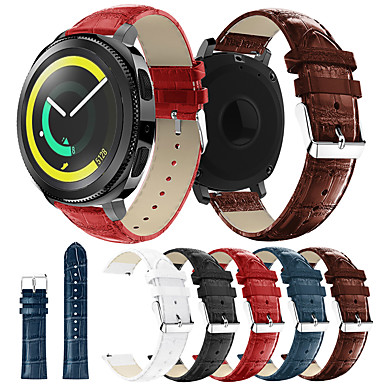 Недорогие Часы для Samsung-Ремешок для часов для Gear Sport / Gear S2 / Gear S2 Classic Samsung / Samsung Galaxy Кожаный ремешок Натуральная кожа Повязка на запястье