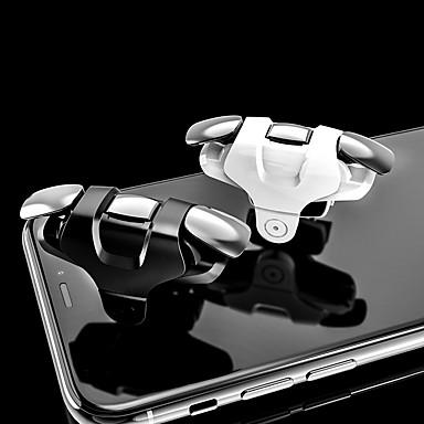 olcso Videojáték tartozékok-A8 játékindító android / ios-hoz, új tervezési játékindító pvc (polivinil-klorid) / fém 2 db egység