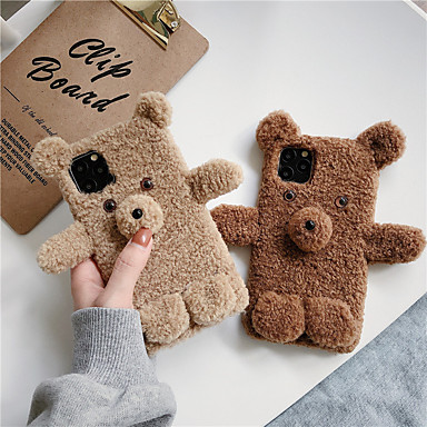 cheap iPhone Cases-Case For Apple iPhone 11 / iPhone 11 Pro / iPhone 11 Pro Max Shockproof Back Cover Animal / Plush TPU