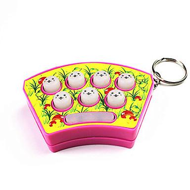 olcso Kulcstartók-Mini kézi Whack-A-Mole Whack egér Hörcsög Játék Sound & kulcstartó (Random Color)