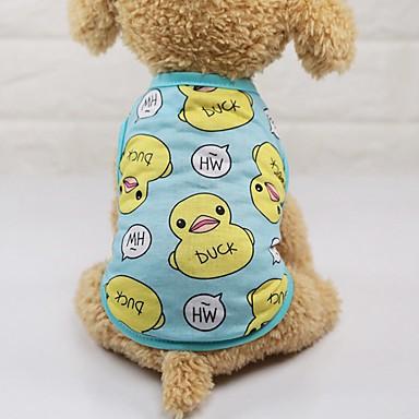 رخيصةأون ملابس وإكسسوارات الكلاب-كلاب قطط سترة ملابس الكلاب أزرق زهري كوستيوم هاسكي فصيل كورجي كلب صيد قطن حيوان شخصية كاجوال / يومي XS S M L XL XXL