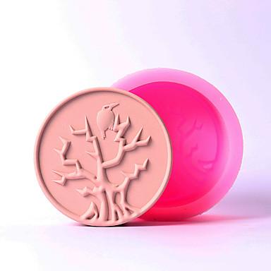 olcso Sütőeszközök és kütyük-fa és madár alakú szappan penész szilikon penész diy eszköz kézzel készített szappan penész