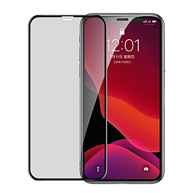 cheap iPhone Screen Protectors-Baseus 0.23mm curved-screen tempered glass screen protector with crack-resistant edges and anti-spy function For iPX/XS Black