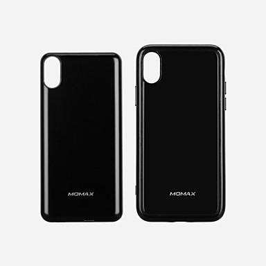 Недорогие Кейсы для iPhone-momax 10000 мАч для банка питания внешняя батарея для iphone x 5 В на 3 А для зарядного устройства с кабелем / qc 3.0 / беспроводное зарядное устройство lcd