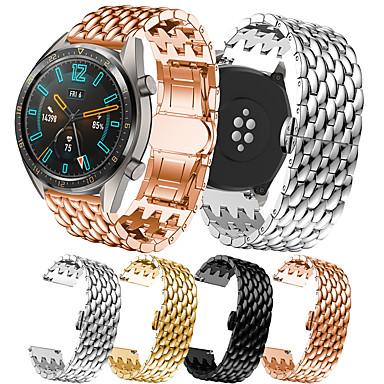 Недорогие Аксессуары для смарт-часов-Роскошный ремешок для часов из нержавеющей стали для часов Huawei GT 2 46 мм / часы 2 Pro / Honor Magic / GT активный сменный браслет ремешок на запястье браслет