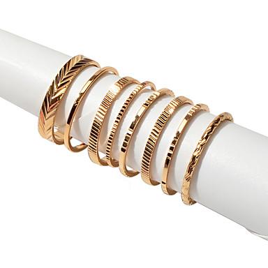 preiswerte Ring paar-Damen Ring Ring-Set 8St Gold Aleación Koreanisch Süß Modisch Hochzeit Geschenk Schmuck Geometrisch Vertikal Niedlich Cool lieblich
