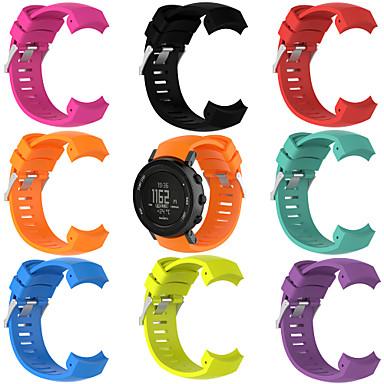 Недорогие Аксессуары для смарт-часов-Ремешок для часов для SUUNTO CORE ALU Black Suunto Спортивный ремешок силиконовый Повязка на запястье