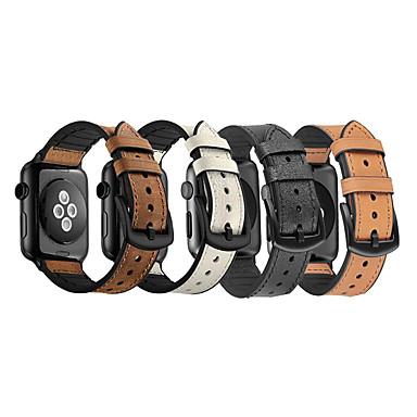 voordelige Apple Watch-bandjes-siliconen / koeienhuid band voor Apple Watch 44 mm / 40 mm iwatch band 38 mm 42 mm band voor Apple Watch 5 4 3 2 1