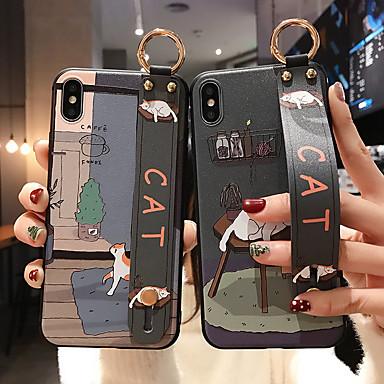 Недорогие Кейсы для iPhone X-чехол на руку для iphone x xr xs max 11 pro max 8 7 6s 6 plus soft tpu милый забавный кот с ремешком на запястье ремешок для телефона чехол