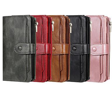 Недорогие Чехлы и кейсы для Galaxy Note-Кейс для Назначение SSamsung Galaxy S9 / S9 Plus / S8 Plus Кошелек / Бумажник для карт / со стендом Чехол Однотонный Кожа PU