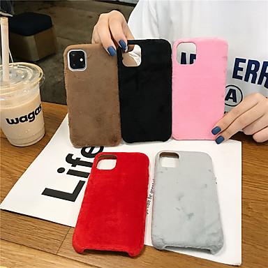 Недорогие Кейсы для iPhone-Кейс для Назначение Apple iPhone 11 / iPhone 11 Pro / iPhone 11 Pro Max Ультратонкий Кейс на заднюю панель Однотонный / Плюш текстильный