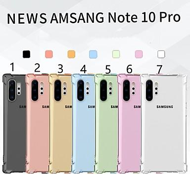 Недорогие Чехлы и кейсы для Galaxy S-Кейс для Назначение SSamsung Galaxy Galaxy S10 / Samsung Note 10 / Galaxy Note 10 Plus Защита от удара / Ультратонкий Кейс на заднюю панель Однотонный ТПУ