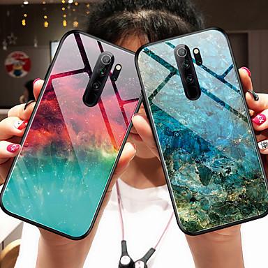 Недорогие Чехлы и кейсы для Xiaomi-Кейс для Назначение Xiaomi Xiaomi Redmi Note 7 / Xiaomi Redmi Note 7 Pro / Xiaomi Mi 9 Зеркальная поверхность Кейс на заднюю панель Градиент цвета Закаленное стекло