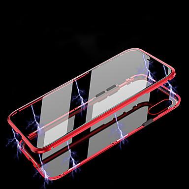 billige Telefonetuier-Etui Til Apple Flipp / Magnetisk Heldekkende etui Gjennomsiktig Herdet glass / Metall