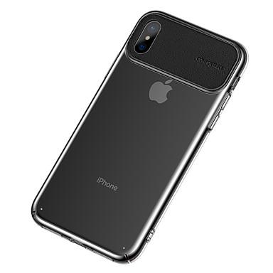 olcso iPhone XS Max tokok-Case Kompatibilitás Apple iPhone XS / iPhone XR / iPhone XS Max Ultra-vékeny / Átlátszó Fekete tok Átlátszó / Egyszínű TPU