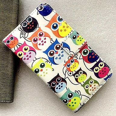 Недорогие Чехлы и кейсы для Nokia-Кейс для Назначение Nokia Бумажник для карт / со стендом / Флип Чехол Животное / Мультипликация Кожа PU