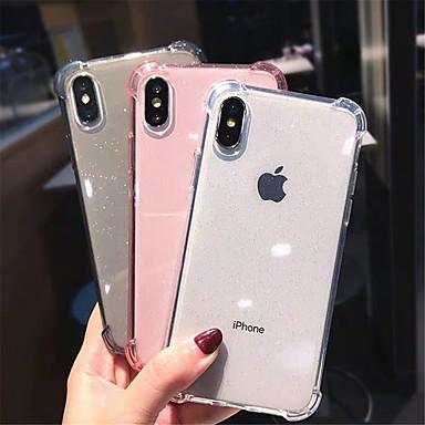 Недорогие Кейсы для iPhone X-чехол для apple iphone 11 / iphone 11 pro / iphone 11 pro max ударопрочный / блестящий блеск задняя крышка прозрачный / блестящий блеск tpu для x xs xr xs max 8 8plus 7 7plus 6 6s 6plus 6splus