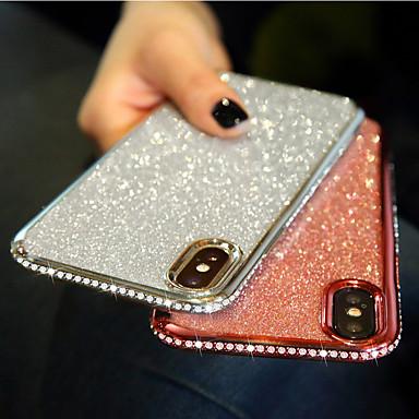 Недорогие Кейсы для iPhone X-чехол для iphone 11pro макс горный хрусталь блестящий чехол для телефона хз макс блеск вставить высококачественный роскошный алмаз 6/7 / 8 плюс защитный чехол