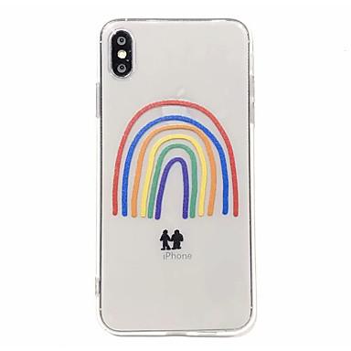 Недорогие Кейсы для iPhone-чехол для карты яблока сцены iphone 11 x xs xr xs макс 8 милый мультфильм радуга узором высокой прозрачной утолщенной тпу материал все включено чехол для мобильного телефона gjd