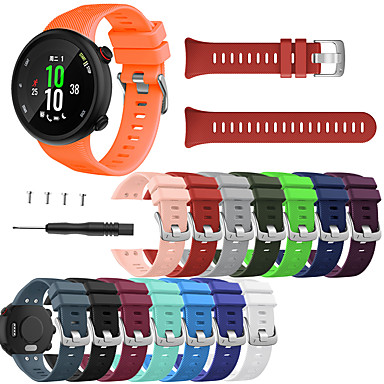 ราคาถูก อุปกรณ์เสริมโทรศัพท์มือถือ-วง smartwatch สำหรับผู้เบิกทาง 45 / ผู้เบิกทาง 45s garmin sport band แฟชั่นสายรัดข้อมือซิลิโคนอ่อนนุ่ม