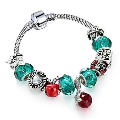 levne Řetízkové náramky-Dámské Syntetický ametyst Řetězové & Ploché Náramky Geometrické Třešňová Módní Slitina Náramek šperky Zelená Pro Dar Denní