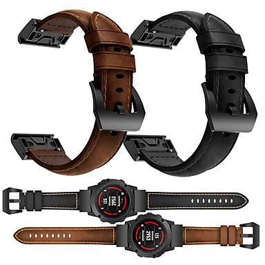 Недорогие Аксессуары для смарт-часов-smartwatch band для garmin fenix 6x / 6 / fenix6s / 6 pro / 5s / 5 / 5x / 3 / 3hr кожаная петля из натуральной кожи спортивные бизнес-группы высокого класса с удобными ремешками для здоровья