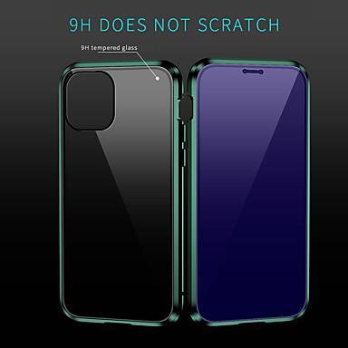 Недорогие Кейсы для iPhone-Кейс для Назначение Apple iPhone 11 / iPhone 11 Pro / iPhone 11 Pro Max Защита от удара Кейс на заднюю панель Однотонный Закаленное стекло / Алюминий