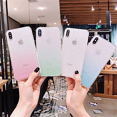Недорогие Кейсы для iPhone 7 Plus-Кейс для Назначение Apple iPhone 11 / iPhone 11 Pro / iPhone 11 Pro Max Прозрачный / Сияние и блеск Кейс на заднюю панель Градиент цвета ТПУ