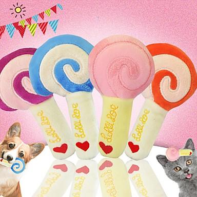 رخيصةأون لعب-لعب رقيق ألعاب الصرير قطط حيوانات أليفة ألعاب 1PC مسموح باصطحاب الحيوانات الأليفة قطيفة هدية