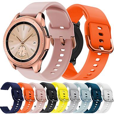 Недорогие Часы для Samsung-smartwatch band для samsung galaxy 42 / активный / активный2 / gear s2 / s2 classic / sport band мода мягкий удобный силиконовый ремешок на запястье 20 мм