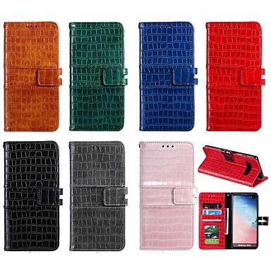 billige Telefonetuier-Etui Til Samsung Galaxy S9 / S9 Plus / S8 Plus Lommebok / Kortholder / med stativ Heldekkende etui Ensfarget PU Leather