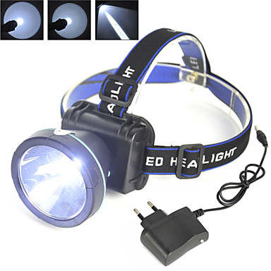 cheap Headlamps-Headlamps Safety Light Headlight 2000 lm LED 1 Emitters 1 Mode with Chargers Camping / Hiking / Caving Cycling / Bike Hunting United Kingdom AU EU USA Yellow Light Source Color