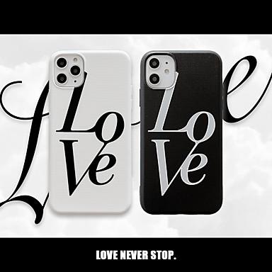 voordelige iPhone-hoesjes-hoesje Voor Apple iPhone 11 / iPhone 11 Pro / iPhone 11 Pro Max Schokbestendig / Stofbestendig / Reliëfopdruk Achterkant Woord / tekst / Hart TPU / PC