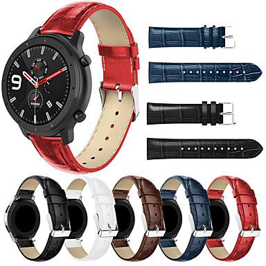 Недорогие Аксессуары для смарт-часов-smartwatch band для huami amazfit gtr 42 мм / часы bip younth / amazfit bip / bip lite Группа amazfit sport, модная удобная кожаная петля из натуральной кожи, ремешок на запястье 20 мм