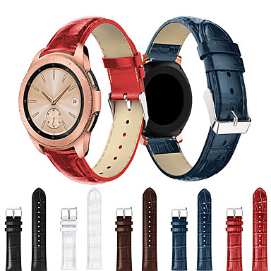 Недорогие Часы для Samsung-smartwatch band для samsung galaxy 42 / активный / активный2 / gear s2 / s2 classic / sport band модная удобная кожаная петля из натуральной кожи ремешок на запястье 20 мм