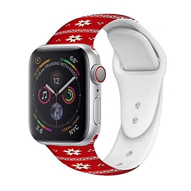olcso Okos karóra Tartozékok-Nézd Band mert Apple Watch sorozat 5/4/3/2/1 Apple Modern csat Szilikon Csuklópánt