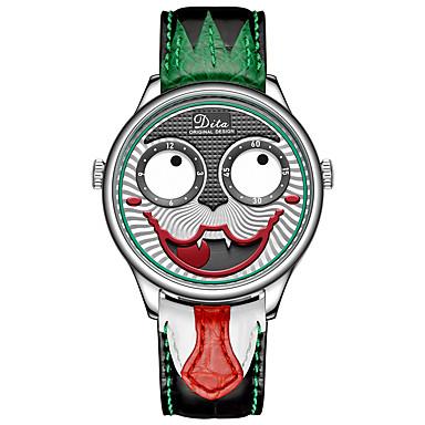 رخيصةأون ساعات ذكية-مهرج الساعات الميكانيكية مهرج الوجه تصميم طبعة محدودة كبير الهاتفي ماء الرجال ووتش سبيكة