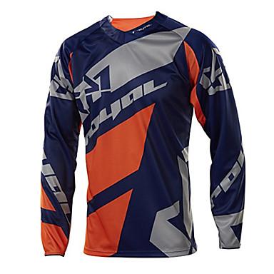 baratos Jaquetas de Motociclista-bicicletas de montanha top homens de cauda macia motocicletas cross-country jersey redução de velocidade roupas respiráveis