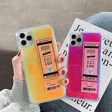 Недорогие Кейсы для iPhone X-Кейс для Назначение Apple iPhone 11 / iPhone 11 Pro / iPhone 11 Pro Max Защита от удара / Движущаяся жидкость Кейс на заднюю панель Слова / выражения / Однотонный ТПУ
