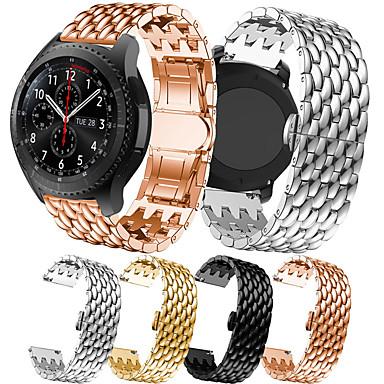 저렴한 삼성 시계 밴드-럭셔리 스테인레스 스틸 시계 밴드 삼성 갤럭시 시계 46 미리 메터 / 기어 s3 클래식 / 프론티어 교체 팔찌 팔찌 스트랩