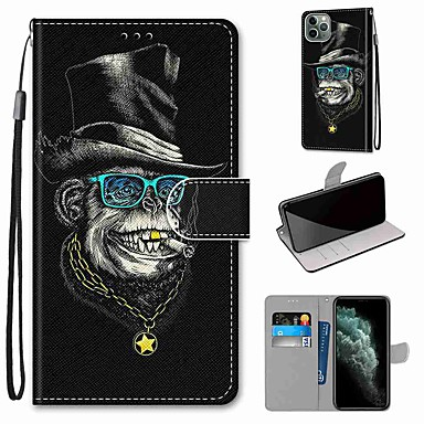 cheap iPhone Cases-Case For Apple iPhone 11 / iPhone 11 Pro / iPhone 11 Pro Max Wallet / Card Holder / with Stand Full Body Cases Animal PU Leather / TPU