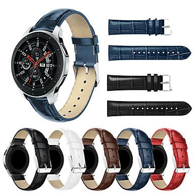 Недорогие Часы для Samsung-smartwatch band для samsung galaxy 46 / gear s3 / s3 classic / s3 frontier / gear 2 r380 / 2 neo r381 группа высокого класса с удобной кожаной петлей из натуральной кожи ремешок на запястье 22 мм