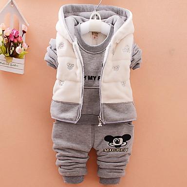 povoljno Kompletići za Za dječake bebe-Dijete Dječaci Ulični šik Print Dugih rukava Regularna Komplet odjeće Bijela / Dijete koje je tek prohodalo