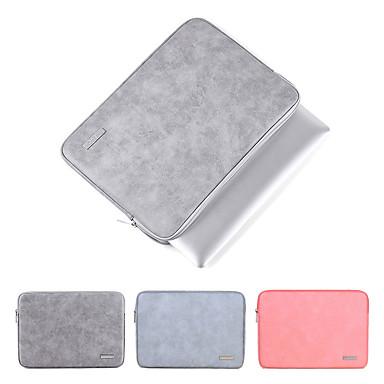 olcso Laptop huzatok-2019-es vízálló pu bőr laptop hordtáska a MacBook Pro Airhez 13 14 15 hüvelykes notebook számítógép pc fedő tasak a Dell hp-hez