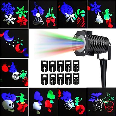 olcso Kültéri lámpák-kwb 10db halloween karácsonyi gyepfényszórók vízálló / kreatív / projektor világos többszínű kültéri világítás 10 led gyöngyök
