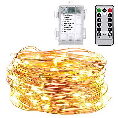 olcso Szalagfény készlet-Az 1set ünnepi világítás húrja az akkumulátorral működik, 5m 50led kültéri beltéri dekoráció tündér fények ünnep led húr