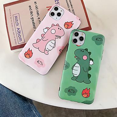 olcso iPhone tokok-Case Kompatibilitás Apple iPhone 11 / iPhone 11 Pro / iPhone 11 Pro Max Minta Fekete tok Állat Silica Gel